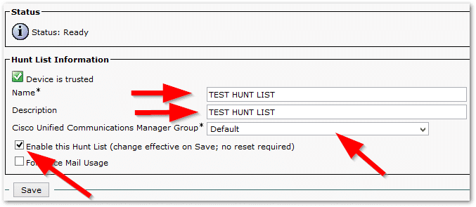 How to create a Hunt Group in Call Manager 9 (CUCM) | Part 2