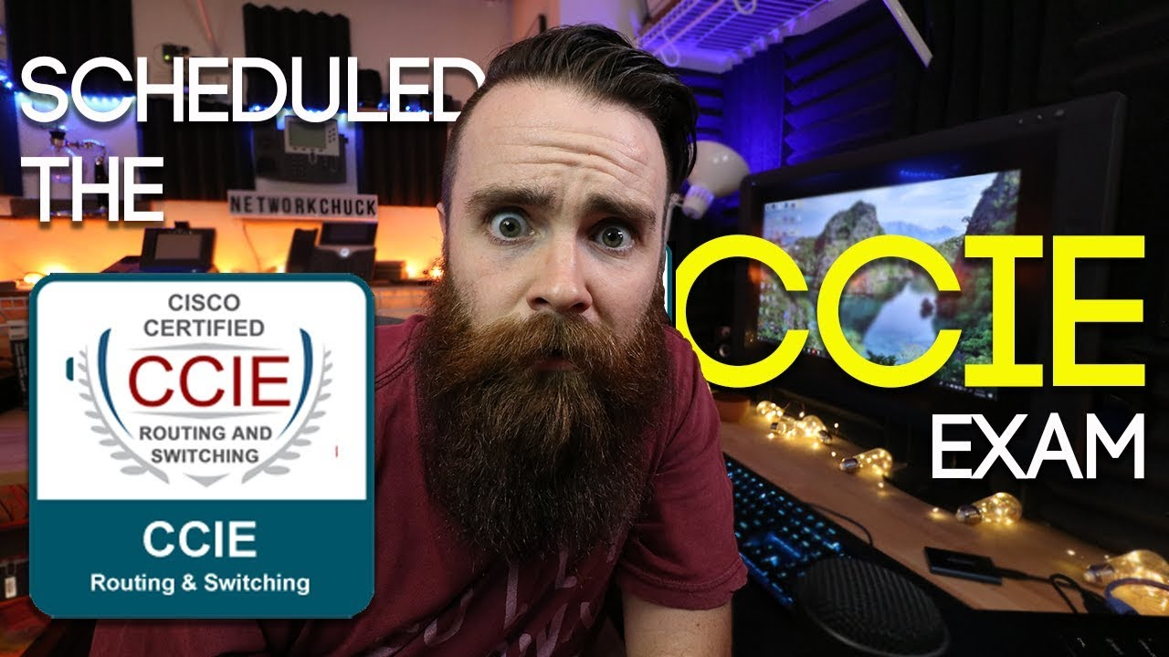 SCHEDULED THE CCIE EXAM!! - NetworkChuck