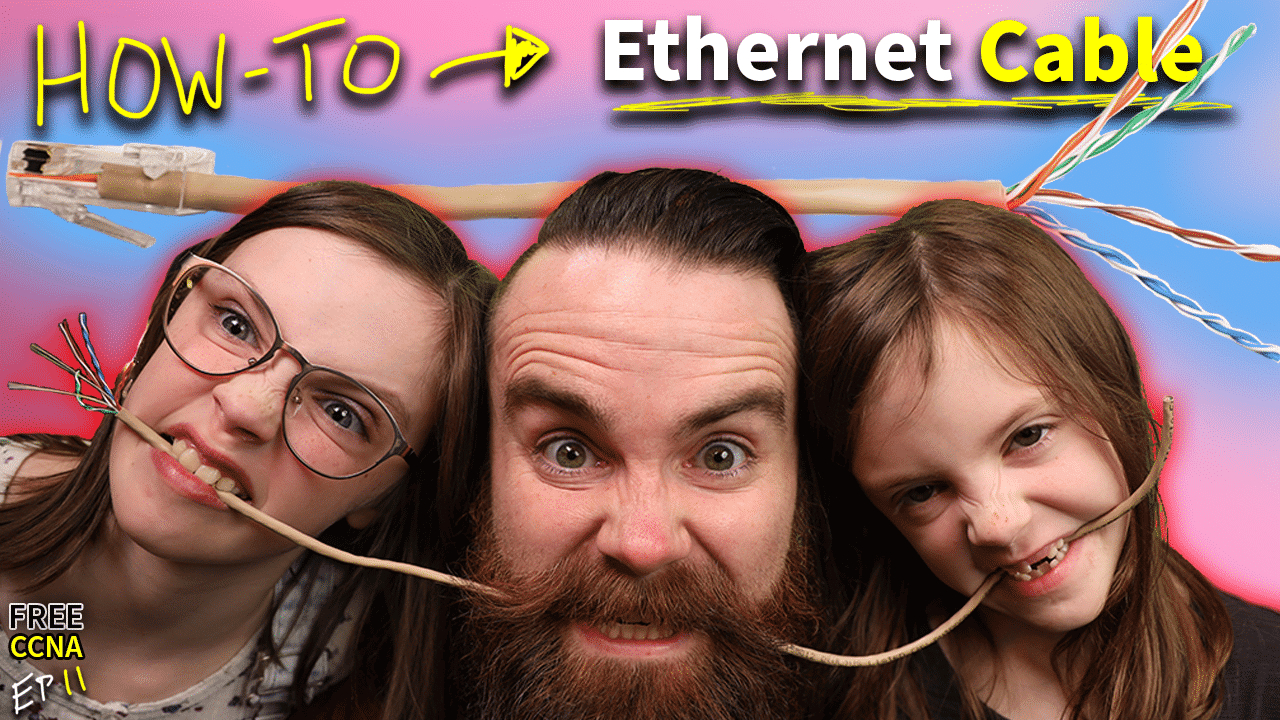 forcing my kids to make Ethernet cables // FREE CCNA // EP 11